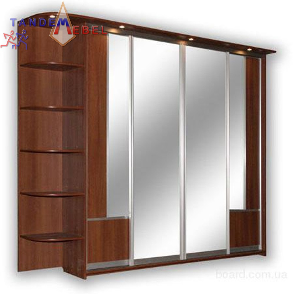 Шкаф купе в гостиную с комбинированными дверями 4, фото, куп.